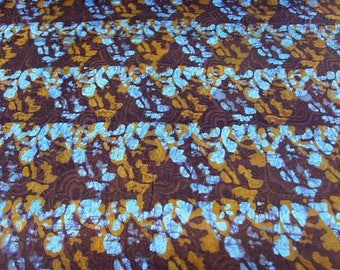 Fabric coupon - Brown, turquoise - 60x50cm PBKBZ52 ethnic patchwork