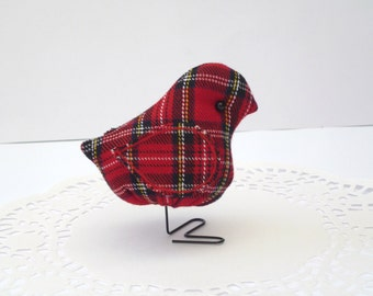 NEW Tartan Fabric Bird