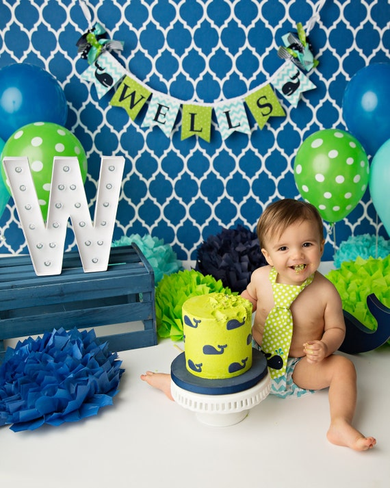 Boy First Birthday Cake Decorations