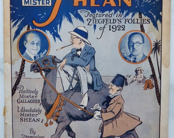 Vintage Sheet Music Oh Mr Gallagher and Mr Shean Zigfield Follies Music
