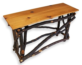 Rustic Sofa Table, Sofa Table, Console Table, Reclaimed Wood Table, Wood Table, Wooden, Furniture, Log Furniture, Cabin Furniture, Rustic