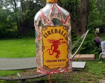 Bottle Wind Chime Glow In the Dark FIREBALL Cinnamon Whisky