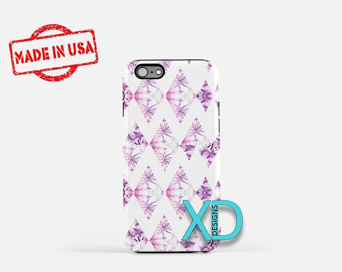 Fractal Diamond iPhone Case, Floral iPhone Case, Diamond iPhone 8 Case, iPhone 6s Case, iPhone 7 Case, Phone Case, iPhone X Case, SE Case