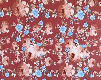 Double Brushed Poly Floral Print By The Yard 60'