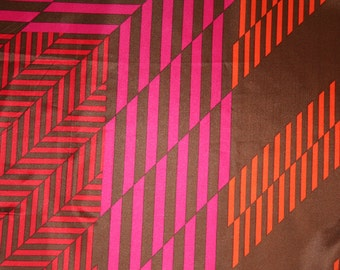 Colorblock scarf in brown, pink and orange