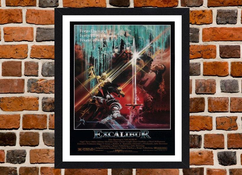 Umrahmt von Excalibur Film / Film Poster A3 Größe montiert In