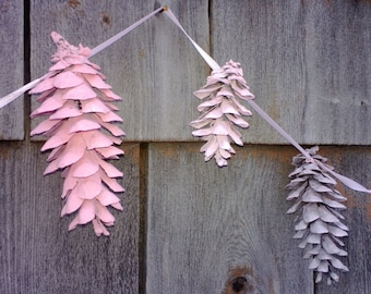 Pinecone Garland - Made to Match Wreath - Rustic Wedding - Nursery