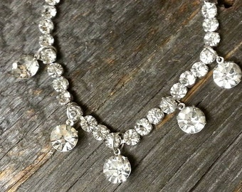 Stunning Vintage Crystal Rhinestone Necklace