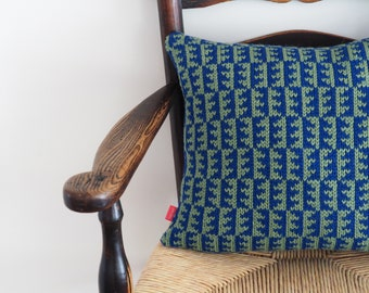 Cushion, Green and Blue