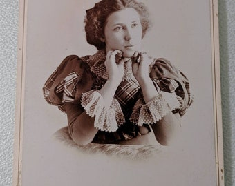 Antique Cabinet Photograph Young Woman New York