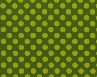 Fat Quarter Ta Dots CX1492-Moss by Michael Miller Cotton Fabric