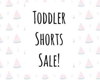Shorts Sale for Toddlers. Custom made character cutie shorts, Shopkins, Little Mermaid, Minnie, Mickey, & more. For Toddler Sizes.