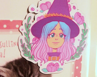 Flower witch magnet