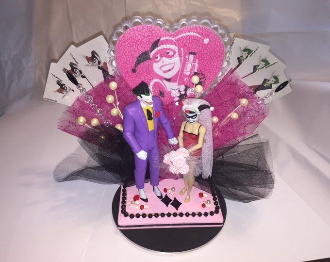 Joker and Harley Wedding Cake Topper