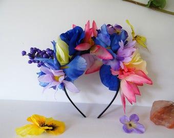 Tropical/Summer/Vaction/Garden Goddess/Tea Party/EDM/Full Moon Charged/Flower Crown/Headband