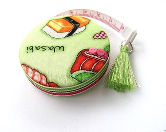 Measuring Tape with Sushi Fabric Pocket Tape Measure