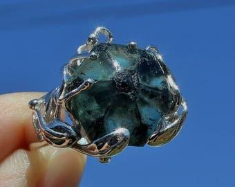 sale sale sale 10.3 carat TRAPICHE EMERALD RING * Size 9 * Natural & Untreated * Muzo, Brazil
