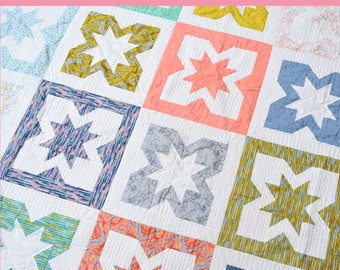 Geode Fat Quarter Quilt Pattern in 4 Sizes