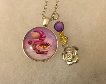 Handmade Cheshire Necklace with Charm