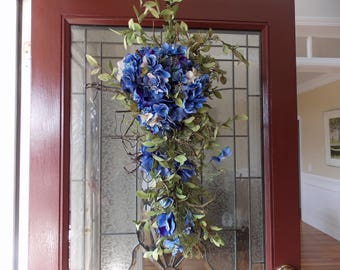 Spring Swags for Front Door-Spring Swag-Spring Wreaths for Front Door-Spring Swag Wreath-Spring Summer Swag-Spring Teardrop Swag