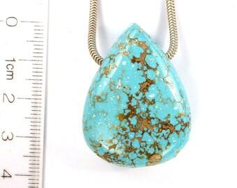 DVH 92 ct. Arizona Turquoise Teardrop Focal Bead 37x28x14 (8619)