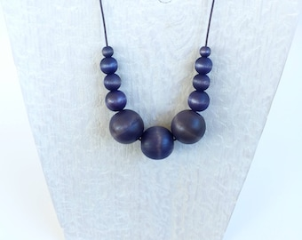 Navy Blue Bead Necklace - Blue Statement Necklace - Navy Blue Statement Necklace - Chunky Necklace - Unique Necklaces for Women - Best Gift