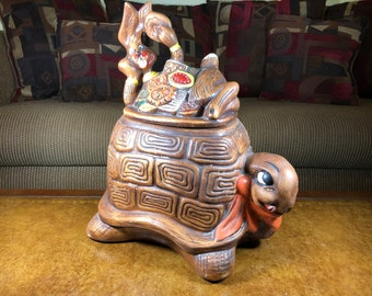 California Originals Tortoise and the Hare Cookie Jar