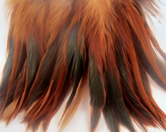 Furnace Feathers strung Saddle Natural 5 to 6 inches dream catcher feathers craft feathers
