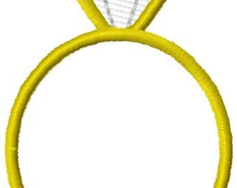 Diamond Ring Machine Embroidery Design Mini