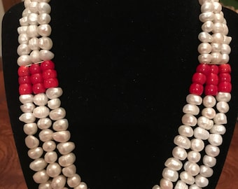 Freshwater Pearls Necklace & Earrings