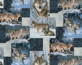 Wolves Fleece Throw Blanket /David Textiles/Free shipping available/wolf blanket/animal blanket