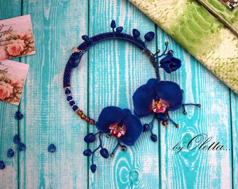 """Necklace """"Planet of orchids"""""""