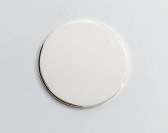 1.25 Inch 20 Gauge Sterling Silver Round Circle Discs Jewelry Stamping Supplies