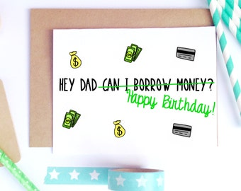 Dad Birthday Card, Dad Bday Card, Funny Birthday Card, Card For Dad
