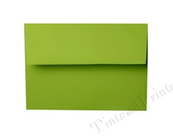 A7 Envelopes Tropical Green Set of 25 - for 5x7 cards and invitations