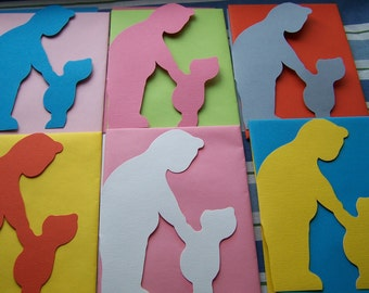 "Vintage ""KNOBLER"" Colorful Cutouts Cards Made in England"
