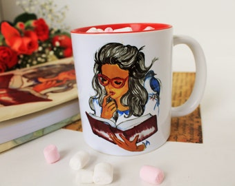 The Magic World of Books - Personalized and Handmade Coffee Mug