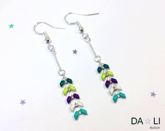 "Earrings ""Ears"", bright colors and neon"