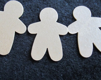 Small Gingerbread Men Chipboard Blanks - Christmas Decorating- Unfinished Gingerbread Men Shapes-Garland Blanks