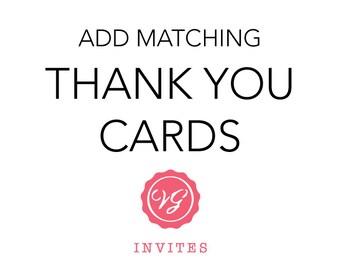 Add Matching Thank You Card
