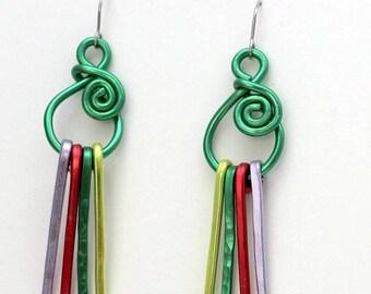 2018 Spring Earrings, Long Earrings, Color Earrings, Aluminum Earrings, Art Earrings, Funky Earrings CE20