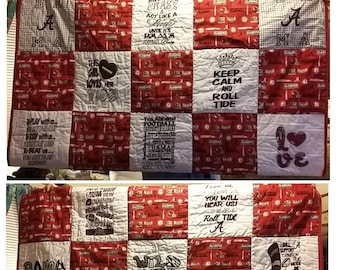 FREE SHIPPING  Twin Size BAMA Quilt