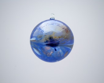e00-62 Medium Iridescent Ornament Dark Blue