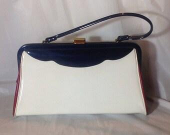 Vintage Red/White and Blue Annette Handbag
