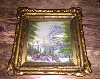 Very Old Framed Landscape