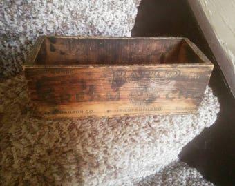 Vintage Wood Barco Cream Cheese Box - Barco Cheese Box - Wood Cheese Box