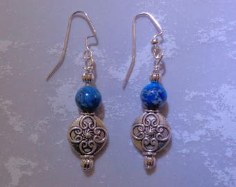 Classic Blue and Silver Earrings