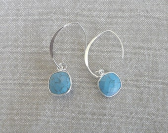 "Silver earrings ""Turquoise"""