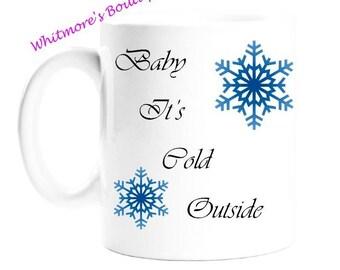 Christmas Gifts - Gift For Women - Gift For Men - Gift For Tea Drinkers - Birthday Present - - Snowflake Mug - White Porcelain Mug
