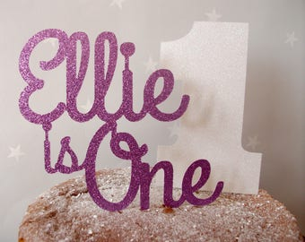Glitter Name Cake Decor, Name Cake Decor, Name and Number Cake Topper, Number Cake Decor, Glitter Name Cake, Name Cake Topper, 1st Birthday